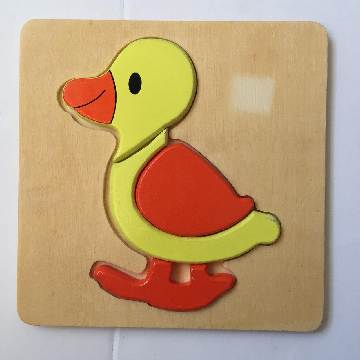 Duck Puzzle 4pc Wooden Puzzle 🧩 🦆