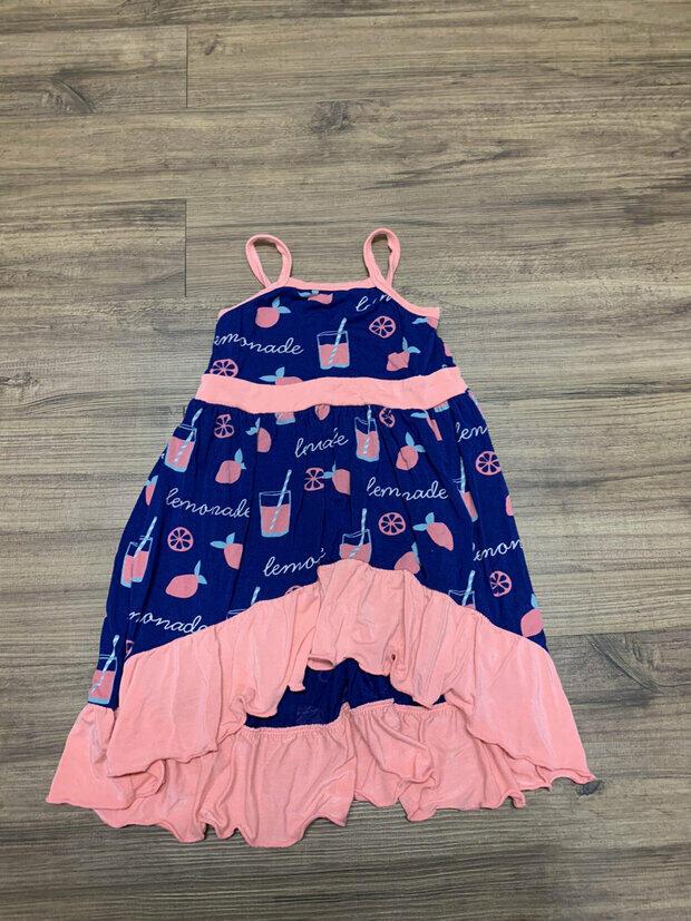 NWT KICKEE PANTS PRINT TIERED RUFFLE DRESS ALOE BUTTERFLY PRINT 6-12M  NWT