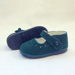 Angel Brand Green Suede Baby Girl Shoes