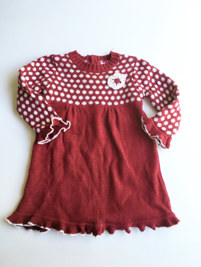 0f4ab3872 Piper And Posie Red Sweater Dress 6-9m
