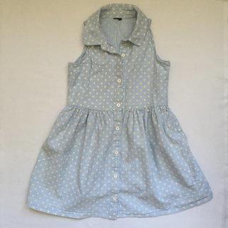 Gap Polka Dot Chambray Dress