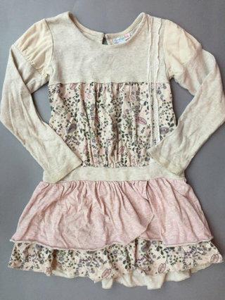 Naartjie 6 Oatmeal Vintage Lace Dress