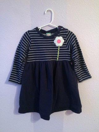Navy Striped Sweater Dress