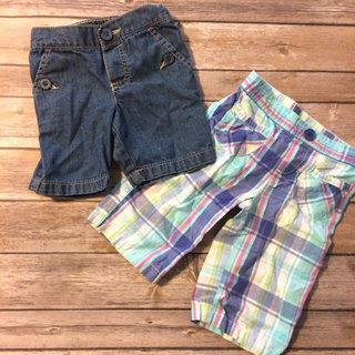 Plaid And Denim Shorts Bundle