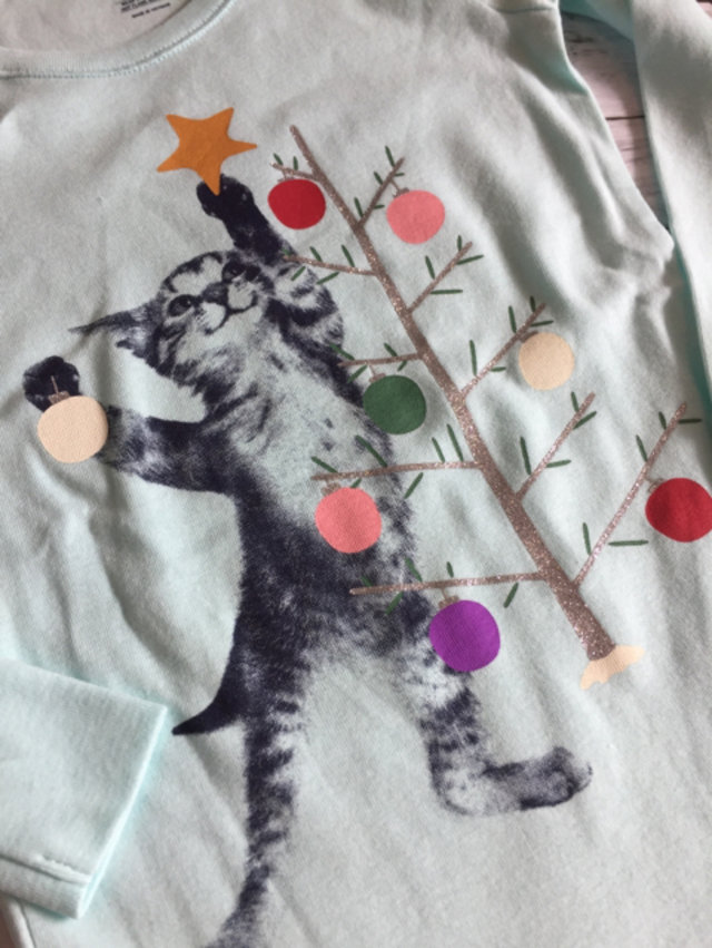 nwt gap christmas cat pajamas 6