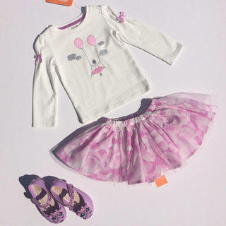 ea432bf426 NEW Gymboree 2pc Ballerina Tutu Outfit