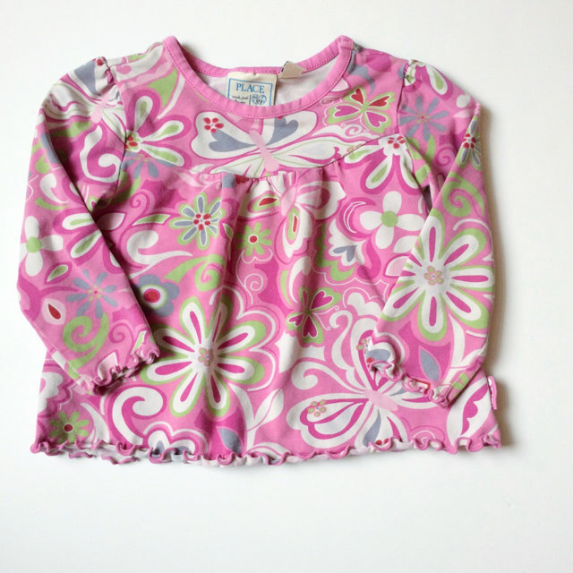 edba535411 Children's Place Pink Floral Print Shirt