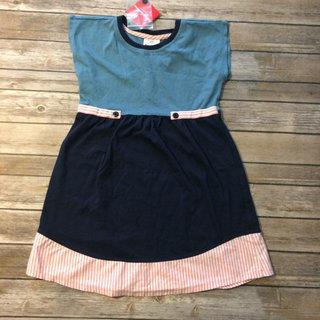 Blue Color Block Dress Size 130