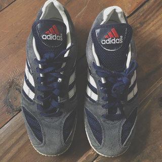 Boys Gray Suede Adidas Shoes