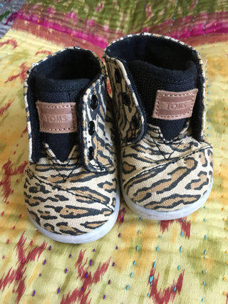 Leopard Print TOMS Paseo Infant Shoes