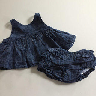 Denim Dress With Bloomers