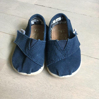Navy Tiny TOMS Shoes