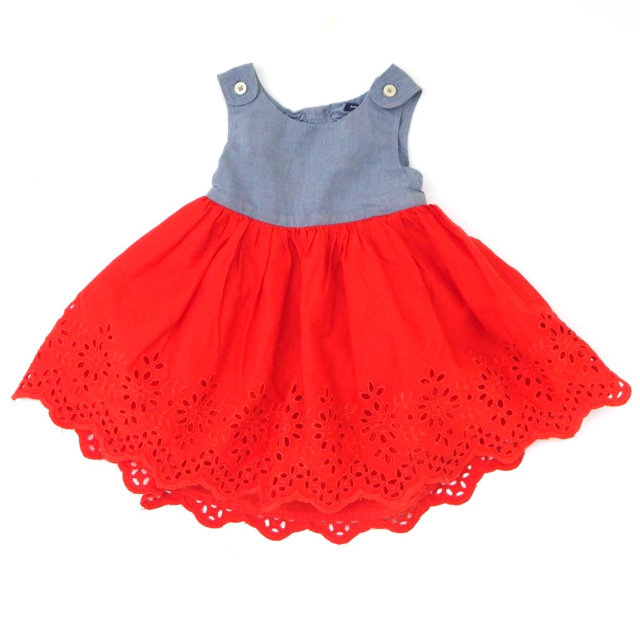 051d14dcbb6 Gap Chambray   Eyelet Red Dress