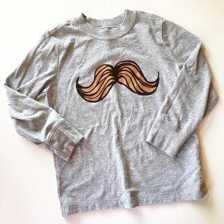 Long Sleeve Mustache Tee