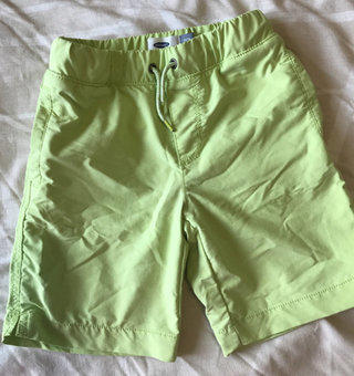 Neon Green Pull On Shorts