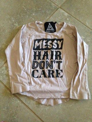 Messy Hair Long Sleeve