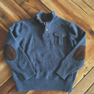 Blue Tommy Hilfiger Button Sweater