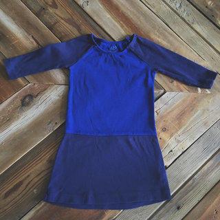 Colorblock Blue Dress