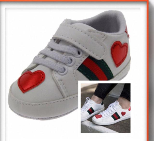 """Gucci Inspired """"Ace"""" Baby Sneakers"""