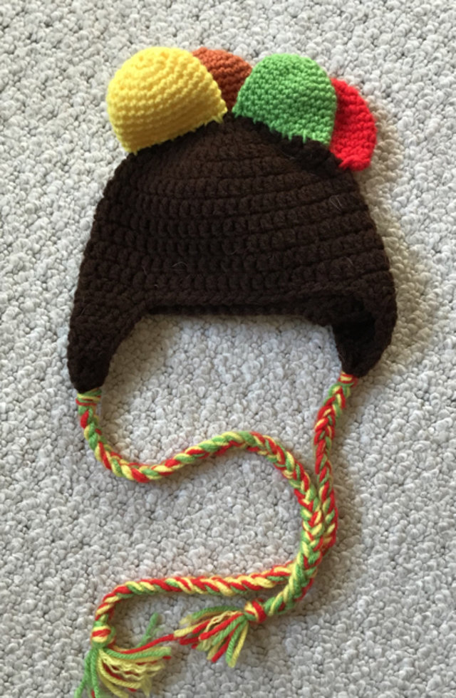Knit Turkey Thanksgiving Hat
