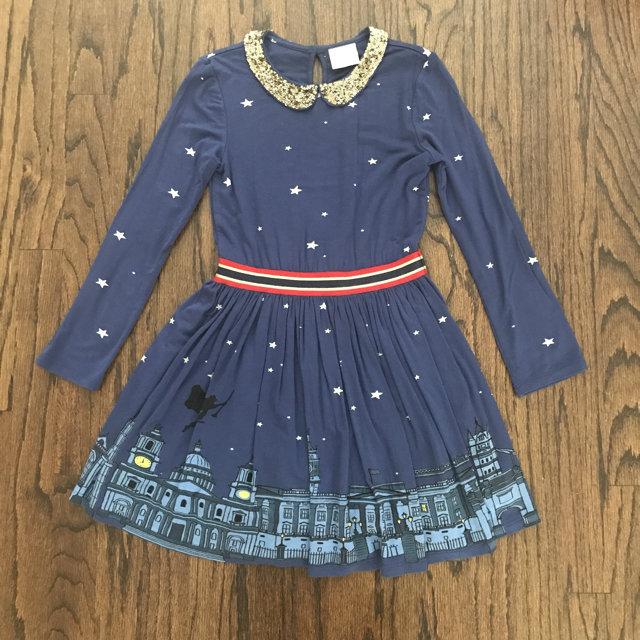 Mini Boden Dahl Royal Palace Dress Nwt Tights