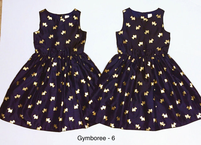 Gymboree Navy Amp Gold Scotty Dress 6