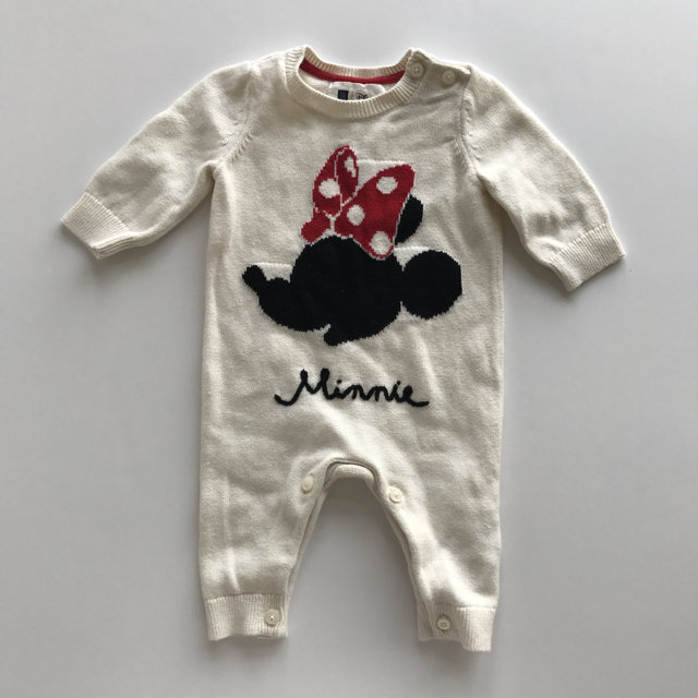 Baby Gap Girls 3-6 Month Minnie Mouse Sweater Romper Nwt