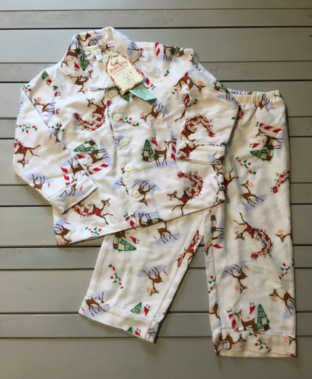 nwt pottery barn rudolph pajamas. Black Bedroom Furniture Sets. Home Design Ideas
