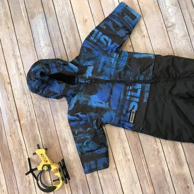 ff35e5ef4 Quiksilver Black Blue Snowsuit Bunting Boys 9 mo
