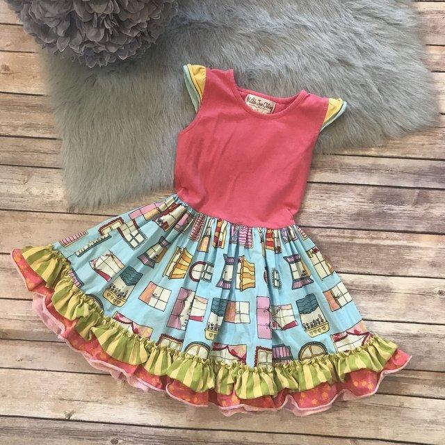 Matilda Jane Good Hart Symon S General Store Flutter Windows Dress Blue Pink 4