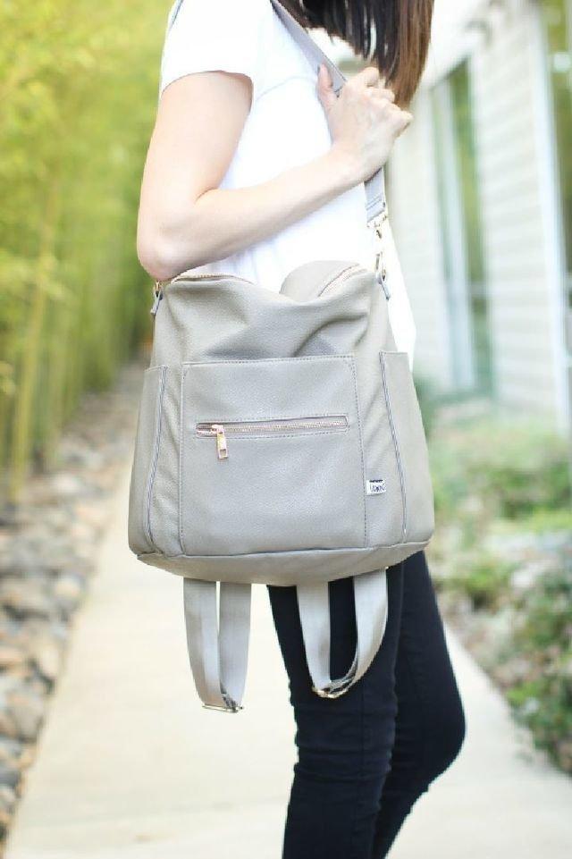 Gray Fawn Design Diaper Bag