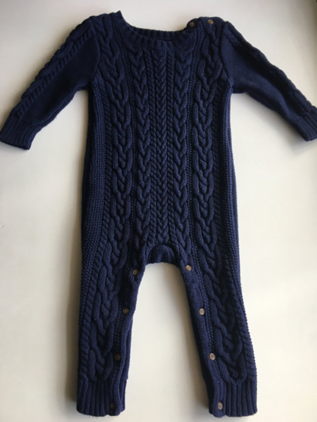 Gap Navy Cable Knit Sweater Romper
