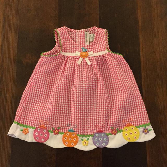 55ecabace Youngland Ladybug Dress, 12 Months