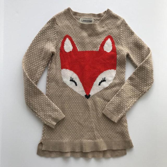 013405cd87b Lands End Fox Sweater Dress