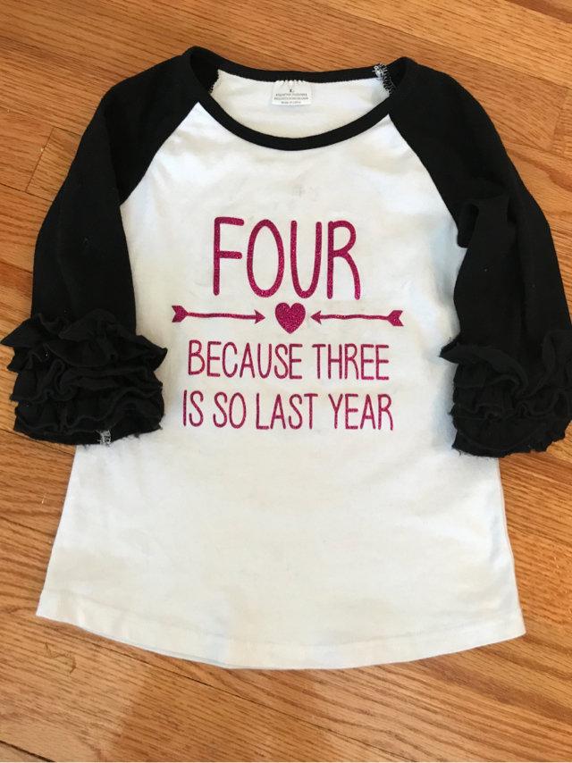 4 Year Old Birthday Shirt