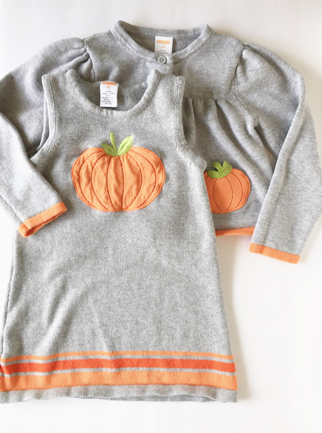 0417d66471f Created with Sketch. Created with Sketch. Add to Collection. Gymboree  Pumpkin Sweater Dress Set