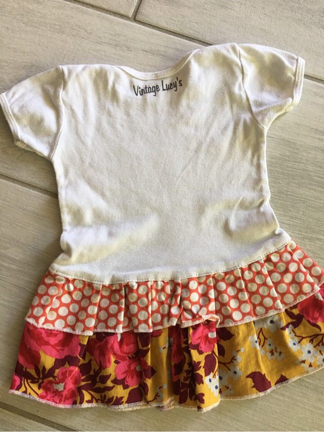 d75fd8add Message Seller; Add to collection Checked collection Add to Collection. Vintage  Lucy's Gypsy Baby Dress ...