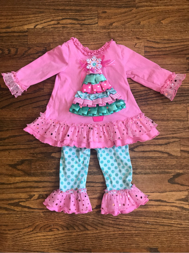 Rare Editions Christmas Toddler.Rare Editions Christmas Tree Outfit