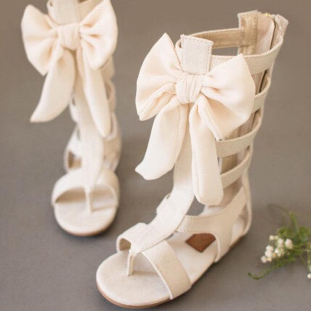 Joyfolie Cream Alexa Gladiator Sandals