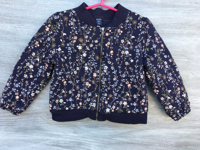 Gap Navy Floral Pattern Quilted Jacket