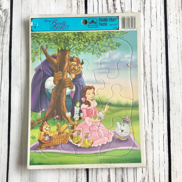 Beauty The Beast Frame Tray Puzzle